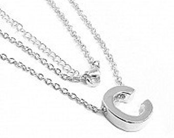 Initial Necklace, silver