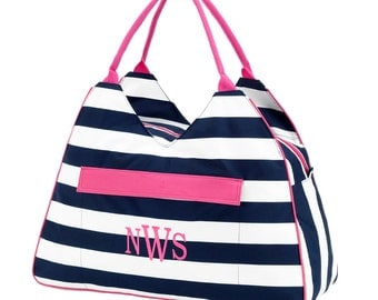 Monogrammed Beach Tote, Beach bag, carry tote