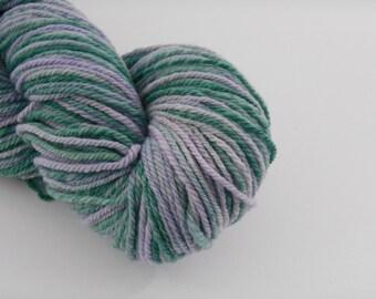 Handspun mérinos , green lilac