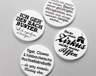 cute as a button  Typo-Magnets Set Nr. 1 – Workspace Madness