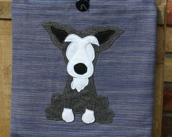 Grey terrier shoulder bag