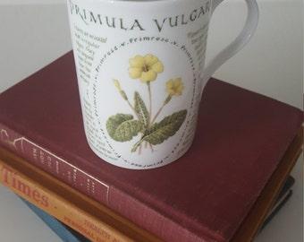 Vintage China Coffee Mug, Fine Bone China, Crown Trent Coffee Mug, Botanical Coffee Mug,
