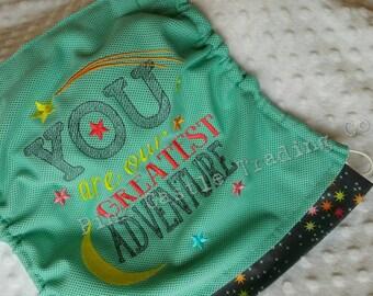 PREORDER Tula Costal Shine Aqua Mesh Tula t Oversized MESH Flat Hood w/Embroider Ready to ship in 2-3 weeks 2-3 wks