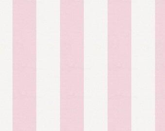 Pink Stripe Organic Fabric - By The Yard - Girl / Modern / Fabric