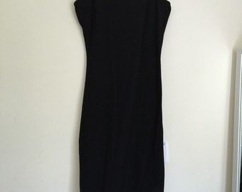 Black backless maxi dress / xs