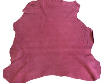 Lambskin Genuine Leather Animal Hides Rose Suede Tanned Craft Sheepskin FS921-5