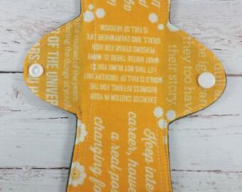 9in Regular - Reusable Cloth Pad - Words of Wisdom