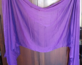 New 3.5 yard Veil Purple Amethyst Iridescent Chiffon Belly Dance performance Cabaret Raks Sharqi AmCab