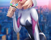 Spider Gwen Illustration A3 Print