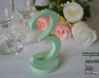 Mint Green Table Numbers, Mint Green Wooden Table Numbers, Mint Green Wedding Decorations, Mint Green Wedding, Set of 1-25 Mint Green