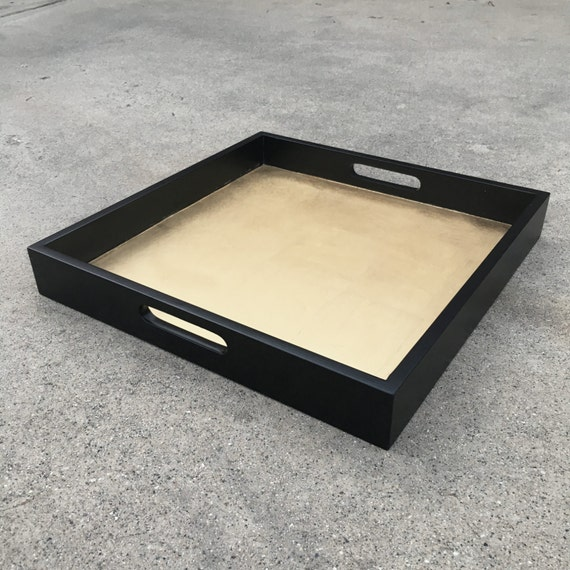 Black Gold Decorative Tray Serving Tray Gold Home Decor