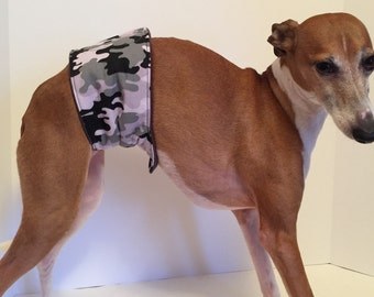 Bellyband with Wiener Guard – Original Design Camouflage Cotton Print Size 12