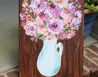 Bouquet of Flowers Painting // Pretty Floral Painting