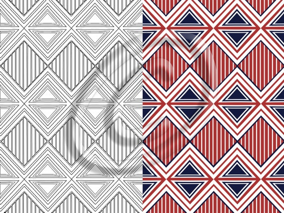 Triangles And Diamonds Pattern Downloadable / Printable Adult