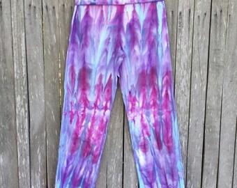 Ladies hippie tie dye yoga pants - Size Medium