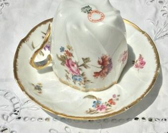 Vintage Limoges elegant tea cup and saucer.  Exquisite!