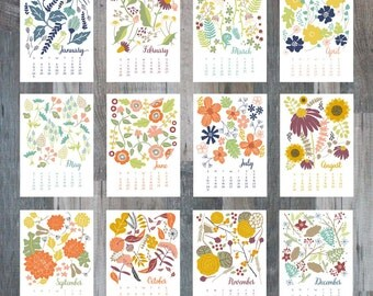 2016 Desk Calendar | A Year of Flowers | ON SALE (20% off)