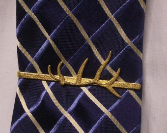 Elk Antler Tie Clip, 3D printed.