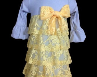 "The ""Maycee"" Lace Ruffle Dress  3T to Girl's size 14"
