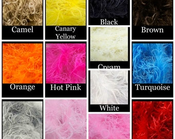 Straight Ostrich Feather 1 YD Boa- You Pick Color
