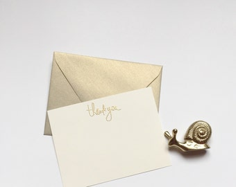 Holiday Thank You Cards - All Occasion Stationary - Embossed Note Cards