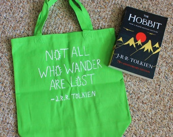 Bookish tote // Library bag // Book bag