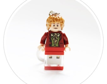 "LEGO The Hobbit ""Bilbo Baggins"" mini-figure USB flash drive Custom/handcrafted"