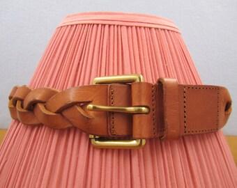 Vintage Talbots Cognac Genuine Leather Ladies Belt