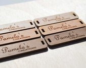 25 Product Tags - Handmade With Love - 0.5 x 1.5 Inches - laser cut and engraved