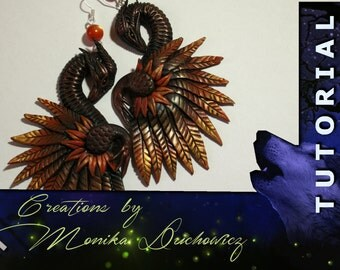 TUTORIAL How to make Dragon earrings from polymer clay