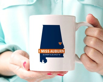 I Miss Auburn Coffee Mug, War Eagles, War Damn Eagle, Auburn Tigers, Auburn University, Auburn Alabama, College, Post College, Auburn Alumni