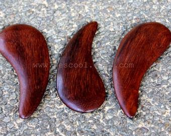 Gua Sha Reflexology Massage Tool Rosewood Face Body Massager Set of 3