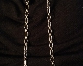 Culture Pearls 12mm and Sterling Silver Chain is 3 1/4 Long