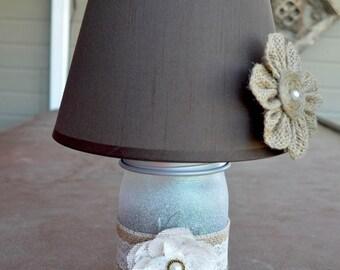 Mason Jar Lamp (Rustic Dream)