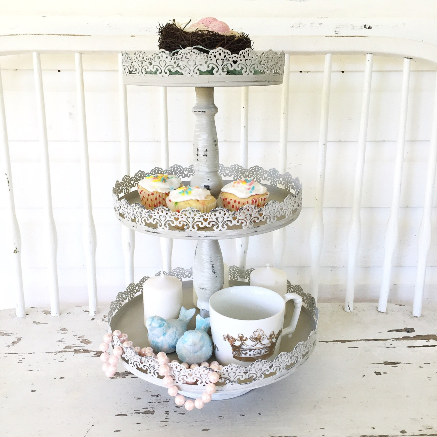 three tier tray layered serving tray wedding serving cupcake. Black Bedroom Furniture Sets. Home Design Ideas
