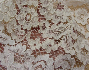 2-colors Corded Lace Fabric,white nylon and ivory cotton lace fabric