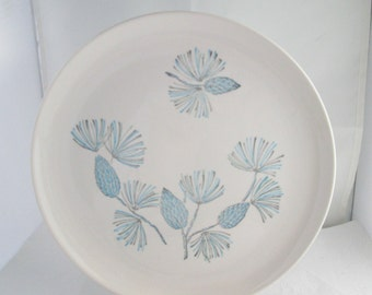 Stetson Marcrest China Blue Spruce Pine Cone Dinner Plate Blue Spruce China Blue Pine Cone China Marcrest plate Stetson plate Stetson china