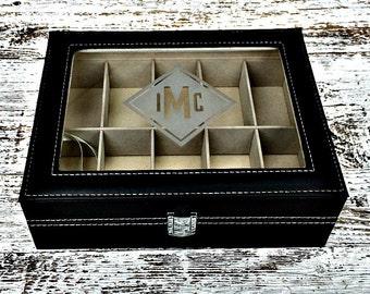 Engraved Watch Box, Watch Case, Watch Storage Box, Watch Chest, Jewelry Box