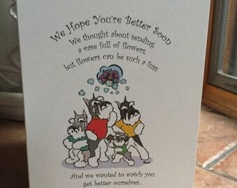 Schnauzer Get Well Greeting Card