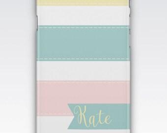 Case for iPhone 8, iPhone 6s,  iPhone 6 Plus,  iPhone 5s,  iPhone SE,  iPhone 5c,  iPhone 7,  Pastel Stripes Personalised