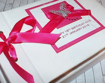 "18th Birthday Photo Album or 21st, 30th, 40th, 50th etc ""Pink Ribbons"""
