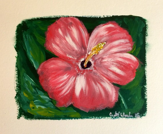 "ORIGINAL ART: ""Hibiscus"""