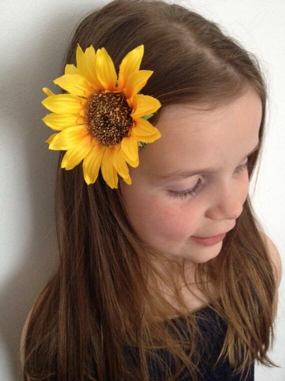 Sunflower Hair Clip Ref S09