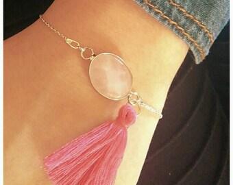 The minimalists, rose quartz and Pompom fuschia