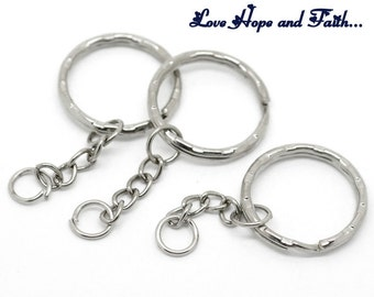 10  Chain key ring