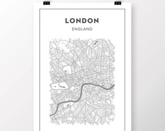 FREE SHIPPING to the U.S!! LONDON Map Print