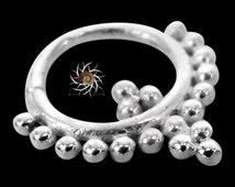 Anik Silver Septum Ring - Septum Jewelry - Septum Piercing - 18G Septum Ring - 16G Septum Ring - Tribal Septum - Indian Septum Ring (S21)