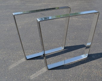Polished Stainless Bent Metal Table/Desk/Bench Legs - Any Size!!