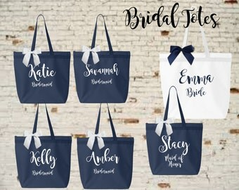 bridesmaid tote, personalized bridesmaid gift, bridesmaid gift, personalized tote, monogrammed tote, bridal party bags