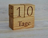 Wood Baby Age Blocks German for Baby Shower Gift, Personalized Wooden Blocks, Photo Props, Nursery Decor and Maternity Blocks